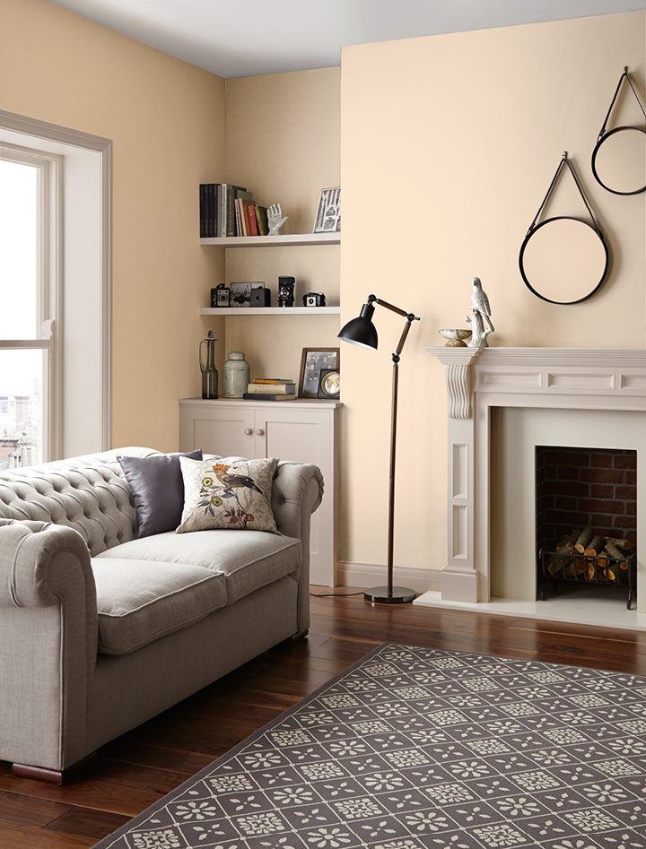 Magnolia mid sheen standard emulsion crown paints - Ivory painted living room furniture ...